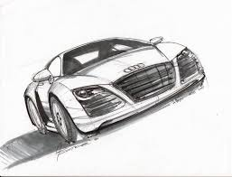 audi sketch lineweights