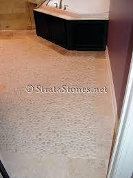 White Pebble Tiles Bathroom - white pebble tile bathroom floor project basement pinterest