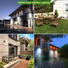 Solar Outdoor House Lights Amazon Com Baxia Technology Solar Lights Outdoor Wireless 28 Led