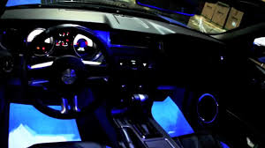 Interior Car Led Light Kits Grabber Blue Ford Mustang With Oracle Blue Led Lights Installed