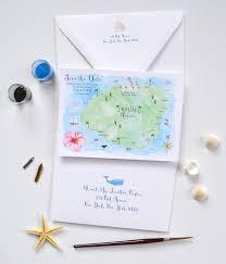 Map Wedding Invitations Kauai Hawaii Map Custom Invitations Unique Wedding Invitations