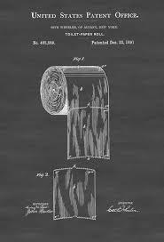 Toilet Paper Patent  Patent Print Wall Decor Bathroom Decor