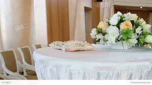 Decorative Flowers by Wedding Hall Decoration Decorative Flowers Stock Video Footage