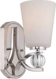 one light chrome white silk ribbon shade bathroom sconce lights