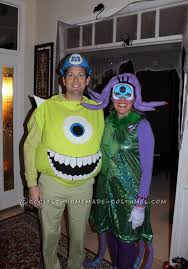Monsters Inc Costumes Diy Mike Wazowski And Celia Mae Costumes