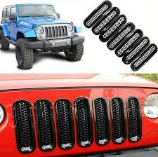 jeep sahara red amazon com red grill mesh grille insert mesh front for jeep