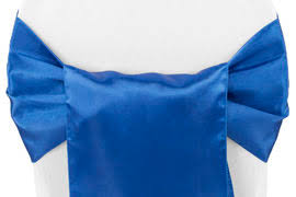 blue chair sashes standard satin sash royal blue at cv linens cv linens