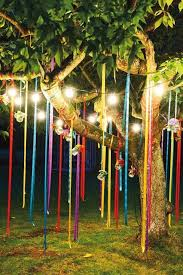 outdoor tree lights for summer fun outdoor birthday party décor ideas spring decorations
