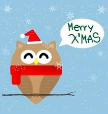 owl christmas owl christmas tree card royalty free vector image