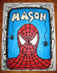 square spiderman cake ideas
