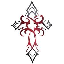 tattoo cross tribal design celtic cross tattoo with blue accent instead tattoos pinterest