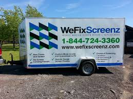 Mobile Window Screen Repair Trailers Wrap It Up Signs Autotrim Canada