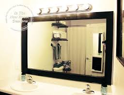Affordable Bathroom Mirrors How To Frame A Bathroom Mirror On A Budget Hometalk