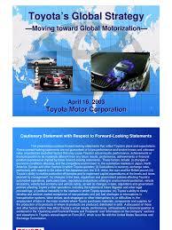 toyota company information toyota strategies hybrid vehicle toyota
