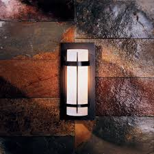 Outdoor Patio Wall Lights Hubbardton Forge 305893 Banded Led Exterior Wall Light Fixture
