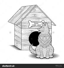 dog house coloring pages great cat and dog coloring pages book design for kids happy dog