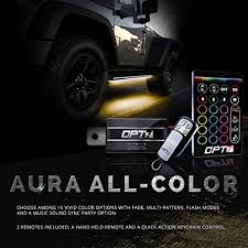 aura running board nerf lights by opt7 lighting side bar step
