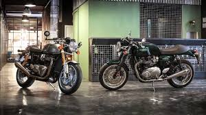 triumph t120 black and thruxton r bonneville youtube