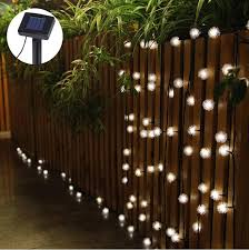battery powered outdoor led string lights solar 4 8m 20leds dandelion holiday lighting 3aaa battery power