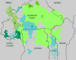 Map Of Africa Quiz by Gur Languages Wikipedia