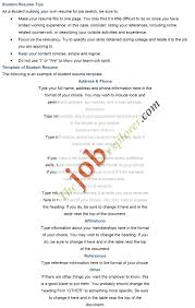 Resume Example College Student by Resume Good Resume Example College Student Good Resume