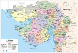 Map Of India Cities Gujarat Travel Map Gujarat State Map With Districts Cities