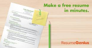 professional resume makers free resume builder resume builder resume genius