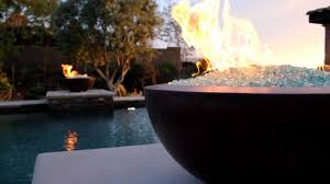 how to make a fire glass pit the legacy fire bowl with fire glass youtube