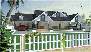 western mix single storied villa kerala home design and floor plans