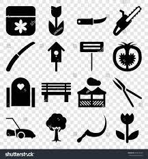 garden icons set set 16 garden stock vector 653018140 shutterstock