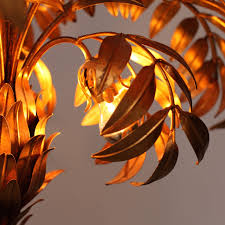 Tree Floor L Pair Of Gilt Metal Palm Tree Floor Ls By Hans Kögl Lomomomo