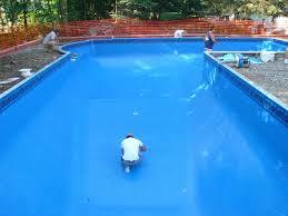Deep Backyard Pool by L Shaped 3 Level In Ground Pool Newburyport Ma