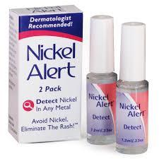 nickel allergy testing nickel alert dimethylglyoxime nickel spot test effective and
