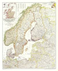 map of n europe northern europe map 1954 maps