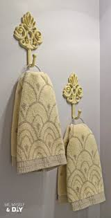Powder Room Hand Towels Five Easy Ideas In Our Purple Powder Room Me Myself U0026 Diy