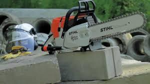 up close stihl gs 461 rock boss concrete cutter youtube