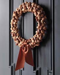 nut wreath martha stewart