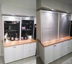 Tambour Doors For Kitchen Cabinets Appliance Garage Diy Appliance Garage Door Hinge Tambour Doors And