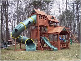 backyards impressive outdoor wooden playsets swing sets backyard