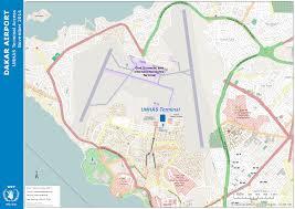 Dakar Senegal Map Unhas Terminal Access Map At Dakar Airport Logistics Cluster