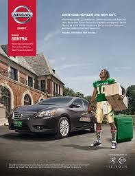 car advertisement bts shooting heisman winning football players for nissan