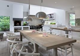 Modern Kitchen Table And Chairs Beautiful Modern Open Plan Kitchen Dining Space With White
