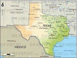 Physical Map United States Geoatlas United States Canada Texas Map City Illustrator