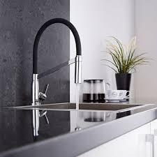 robinet cuisine haut de gamme cuisine noir avec douchette