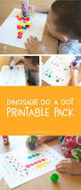 dinosaur do a dot printables your kids will love