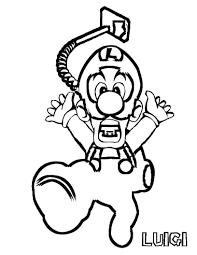 super mario bros coloring pages throughout luigi deafworldshake org