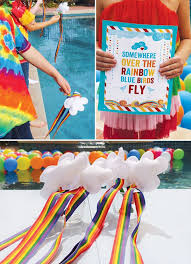 Rainbow Party Decorations 140 Best Somewhere Over The Rainbow Party Images On Pinterest