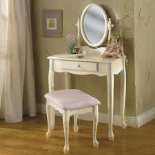 Off White Bathroom Vanities by Lovely Children U0027s Young U0027s Off White Oval Mirror Make Up Table