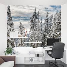 Forest Mural by Alps Winter Forest Wall Mural
