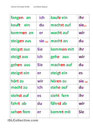 site du si e trennbare verben domino german german language and language